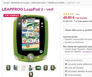 tablette enfants leappad 2