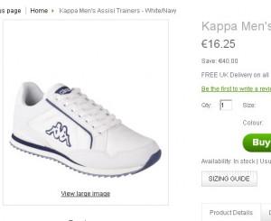 baskets kappa pas chères
