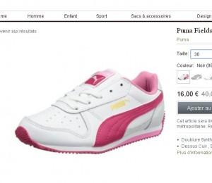 chaussures de sport puma pour filles pas cheres