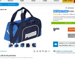 7b401d16a6f0e Sac de sport Puma pour enfants à moins de 10 euros - Bons Plans Bonnes  Affaires