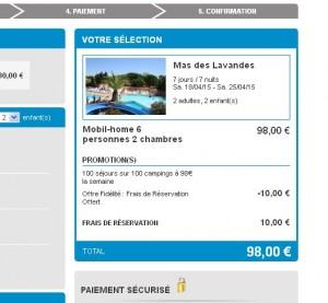 mega affaire location en camping 98 euros en avril mai bons plans bonnes affaires. Black Bedroom Furniture Sets. Home Design Ideas