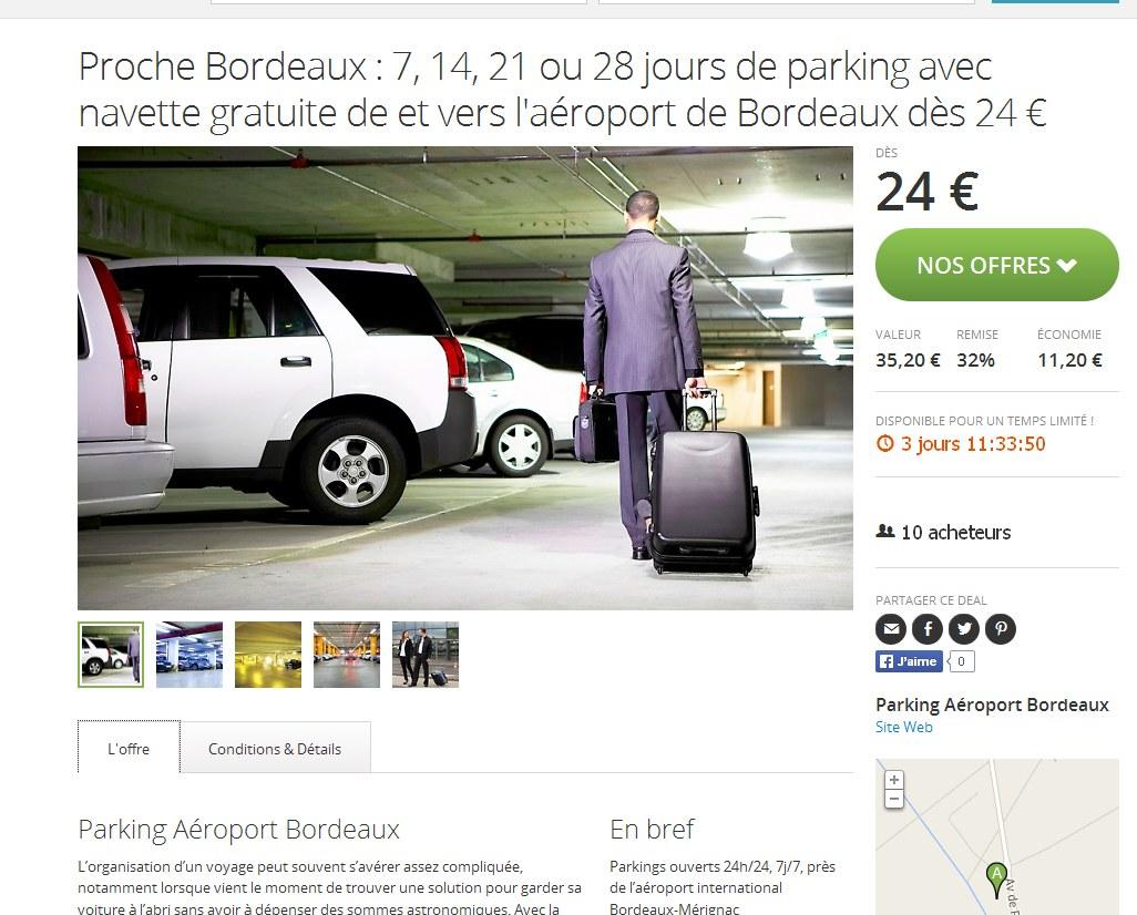 parking aeroport bordeaux pas cher bons plans bonnes affaires. Black Bedroom Furniture Sets. Home Design Ideas