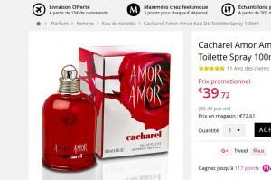 Parfum Amor Amor 100ml Pas Cher à Moins De 40 Euros Bons Plans