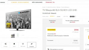 tv 4k 50 pouces blaupunkt moins de 400 euros bons plans bonnes affaires. Black Bedroom Furniture Sets. Home Design Ideas
