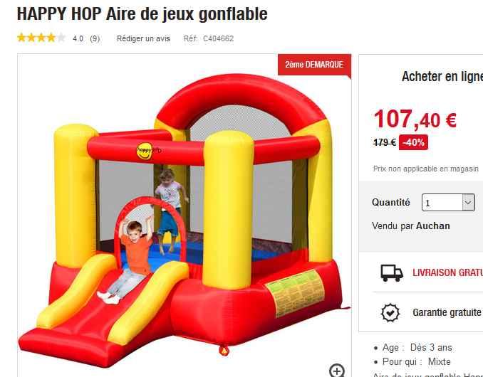 chateau gonflable pour enfants pas cher moins de 110 euros bons plans bonnes affaires bons. Black Bedroom Furniture Sets. Home Design Ideas