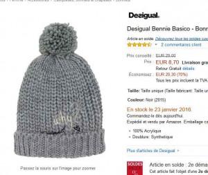 various design good out x cheap Bon plan desigual : bonnet à 8.7 euros contre au moins le ...