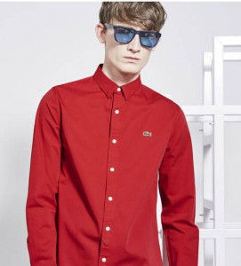 mode soldes  chemise live skinny lacoste homme a e