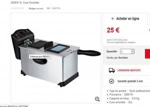 friteuse semi pro 25 euros bons plans bonnes affaires. Black Bedroom Furniture Sets. Home Design Ideas