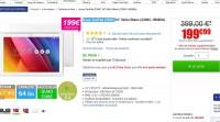Tablette asus 10 pouces 2go de ram 64go de stockage à 199 euros