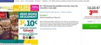 Bon plan coca cola chez geant : 3 euros le bon d'achat de 10 euros
