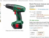 Bon plan bricoleurs : 55 euros la perceuse bosch avec deux batteries