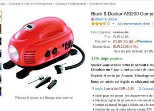 compresseur gonfleur black et decker en vente flash 29. Black Bedroom Furniture Sets. Home Design Ideas