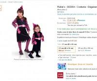 Carnaval : déguisement petite sorciere à 6.6 euros (2-3 ans)