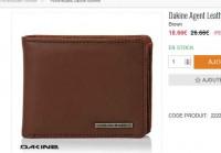 Portefeuille Dakine en cuir pas cher à moins de 16 euros port inclus