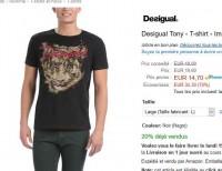 Tee shirt desigual hommes à moins de 15 euros
