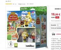 Bonne affaire jeux wii U animal crossing Amiibo Festival à moins de 20 euros