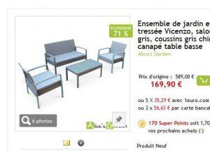 Salon de jardin resine à 170 euros - Bons Plans Bonnes Affaires ...