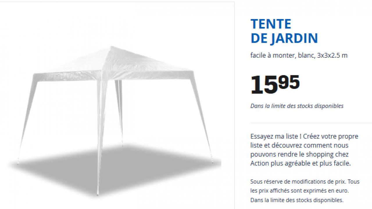 Action Tonnelle De Jardin 3x3 Tente De Jardin à 16