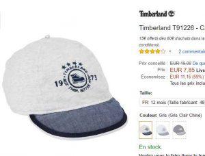 casquette timberland prix