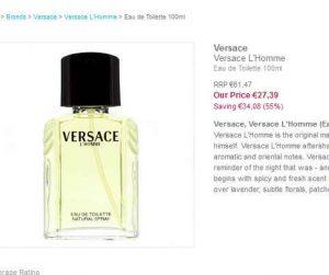 100ml 65€ Eau Chez Toilette Cher L'homme De À 27€Pas Versace ZuTPkOXi