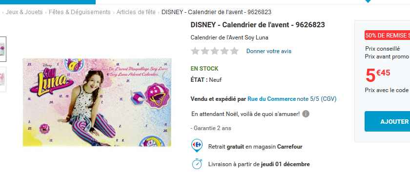 Calendrier De Lavent Soy Luna.Calendrier De L Avent Soy Luna A 5 45 Bons Plans Bonnes