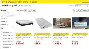 Bon plan meubles 1 achet 1 offert sur le site auchan for Bon plan meuble