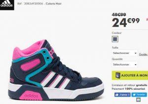 Baskets À 28 Adidas 32Bons Au 25€du Pour Filles Montantes n0X8PNwkO