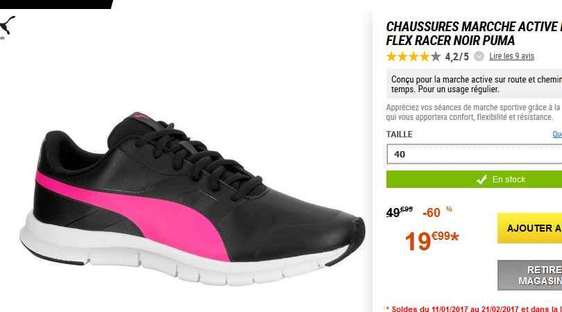 puma chaussures de running flexracer femme