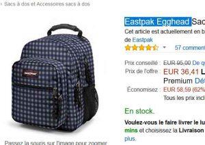 EggHead Bons 36le Eastpak gros sac à de 36litres Plans dos xFXq1