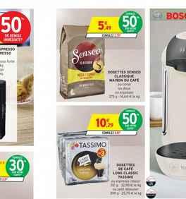 bon plan caf senseo et tassimo avec 50 sur la carte chez intermarche du 10 au 22 janvier. Black Bedroom Furniture Sets. Home Design Ideas