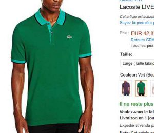 0a2c1b3176 Toujours quelques bonnes affaires en cherchant dans les soldes : avec par  exemple sur amazon , un POLO LACOSTE pour hommes à 42€ … Polo de couleur  verte ...