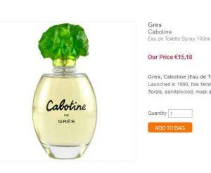 Parfum pas cher cabotine de gres 100ml 20 port inclus - Frais de port gratuit parfum moins cher ...