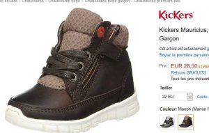 689b4cc53130e Encore un bon prix pour des chaussures kickers en cuir pour garçons   les kickers  mauritius vendues à 28.5€ dans les soldes amazon …