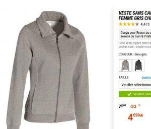 8d25cd7d926 Soldes   4.99€ la veste decathlon pour femmes - Bons Plans Bonnes ...