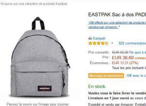 26 le sac dos eastpak padded 24 litres bons plans bonnes affaires. Black Bedroom Furniture Sets. Home Design Ideas