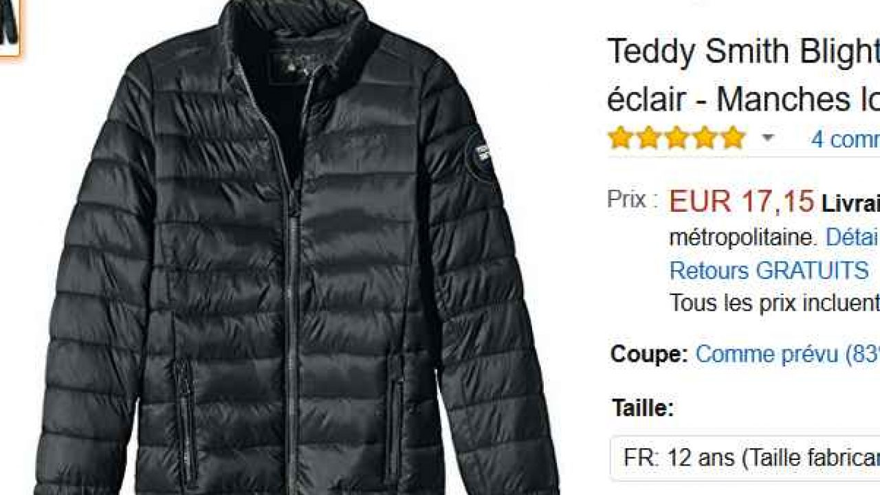 nouveau concept f3927 dd186 Doudoune junior Teddy Smith Blight à 17€ (du 8 au 16 ans ...