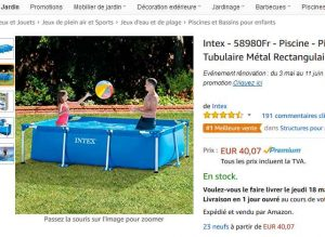 bon plan piscine tubulaire intex 40 26 x 16 x 065