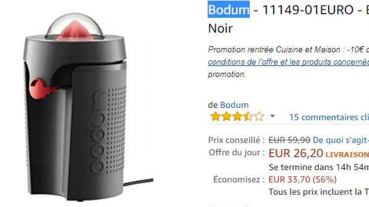 Bodum presse agrume Achat Bodum presse agrume pas cher