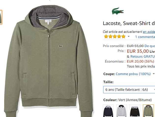 En Sweat Bons Bonnes Le 10 Lacoste 8 35€ Plans Pour 6 Ans Garçons ulJ13TFK5c