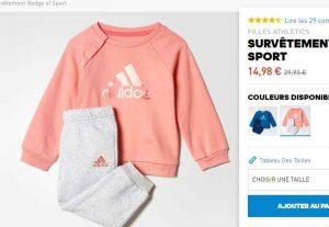 718ab9db75d54 15€ le survetement Bebe Adidas pour filles ou garçons - Bons Plans ...