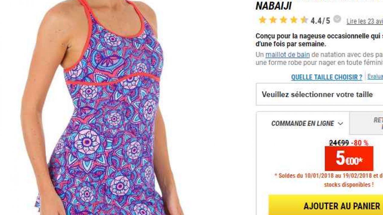 taille 40 1b6d6 df6fa 5€ au lieu de 25 le maillot de bain de natation femmes ...