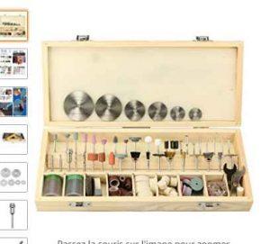 bricolage pas cher la boite avec 228 accessoires pour outils rotatifs type dremel. Black Bedroom Furniture Sets. Home Design Ideas