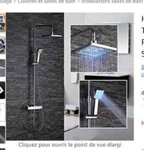 Colonne De Douche Lumineuse 95€ la colonne de douche avec jets lumineux - bons plans bonnes