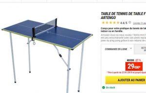 7ef2607e8 29€ la mini table de ping pong en promo chez decathlon - Bons Plans ...