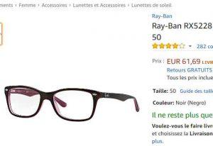 Pas chères à 61€ les lunettes de soleil RAYBAN RX5228 pour femmes (voire  meme 51e) cbc57aa405cd